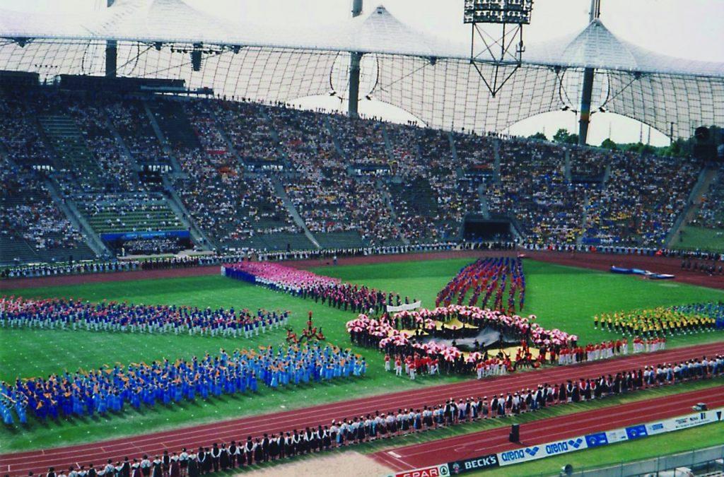 Teilnahme von TVD-Sportlern am Deutschen Turnfest in München 1998